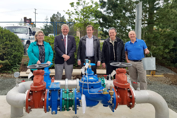 Lantzville & Nanaimo Council Members Water Interconnection Completion z